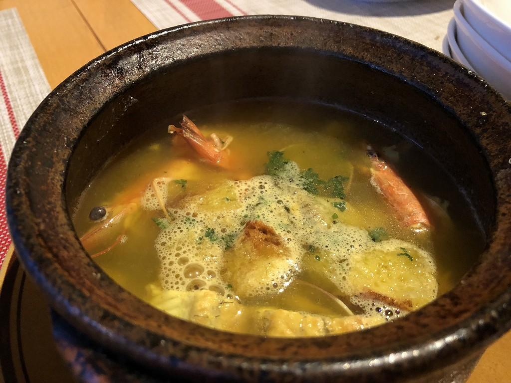 スペインのシャティバの出汁スープ