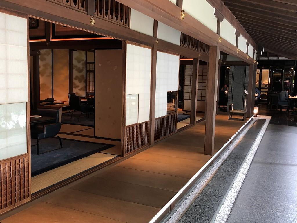 リッツカールトン京都の「ラ・ロカンダ」の和室1