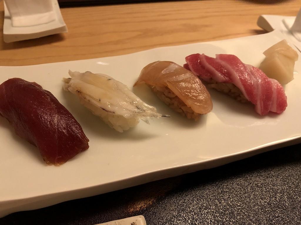 リッツカールトン京都の水暉のヅケ、シラウオ、クエ、大トロ