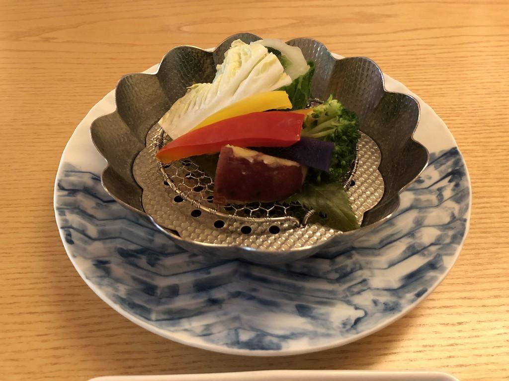 リッツカールトン京都の水暉の蒸し野菜