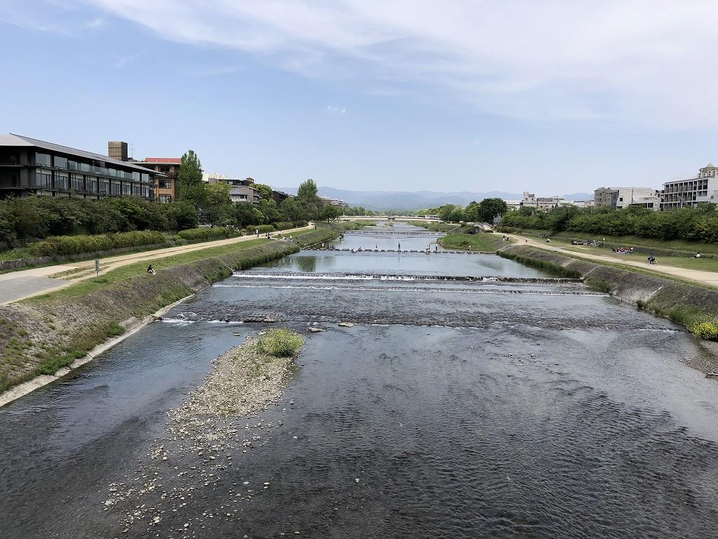 二条大橋から鴨川