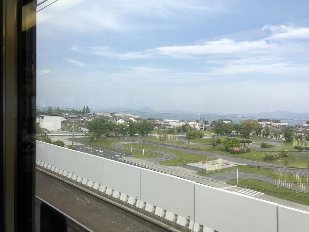 湖西線からの琵琶湖