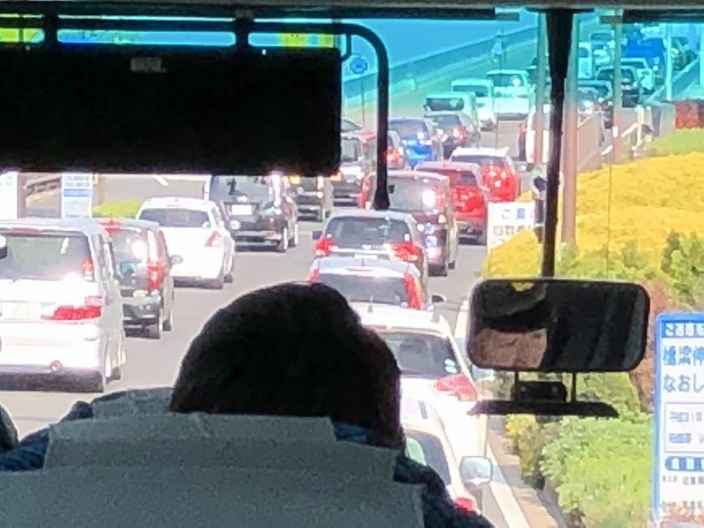 大渋滞の琵琶湖大橋1
