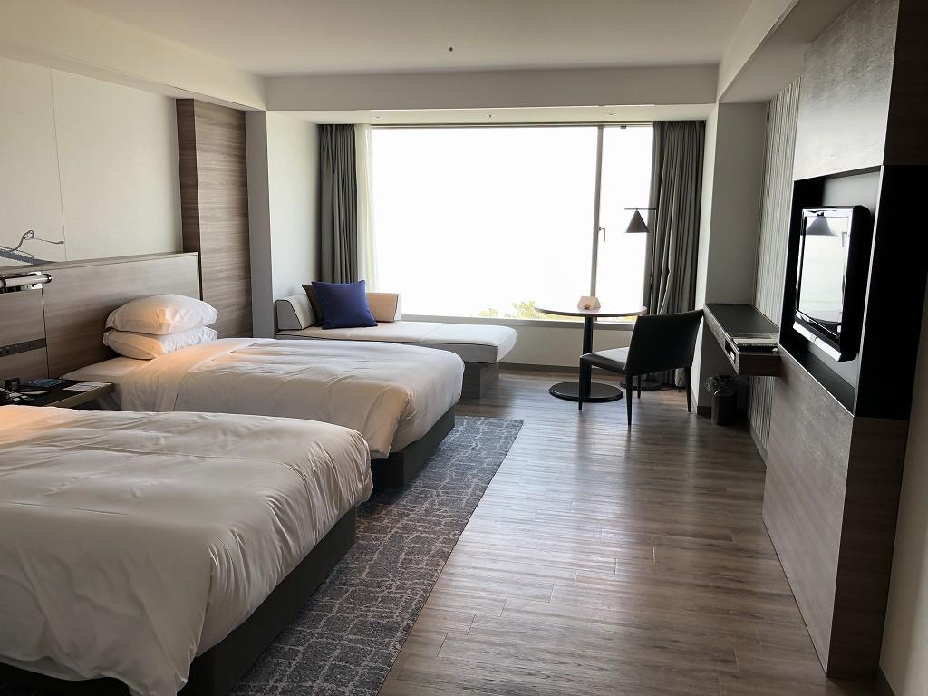 琵琶湖マリオットホテルのデラックスルーム(レイクビュー)1