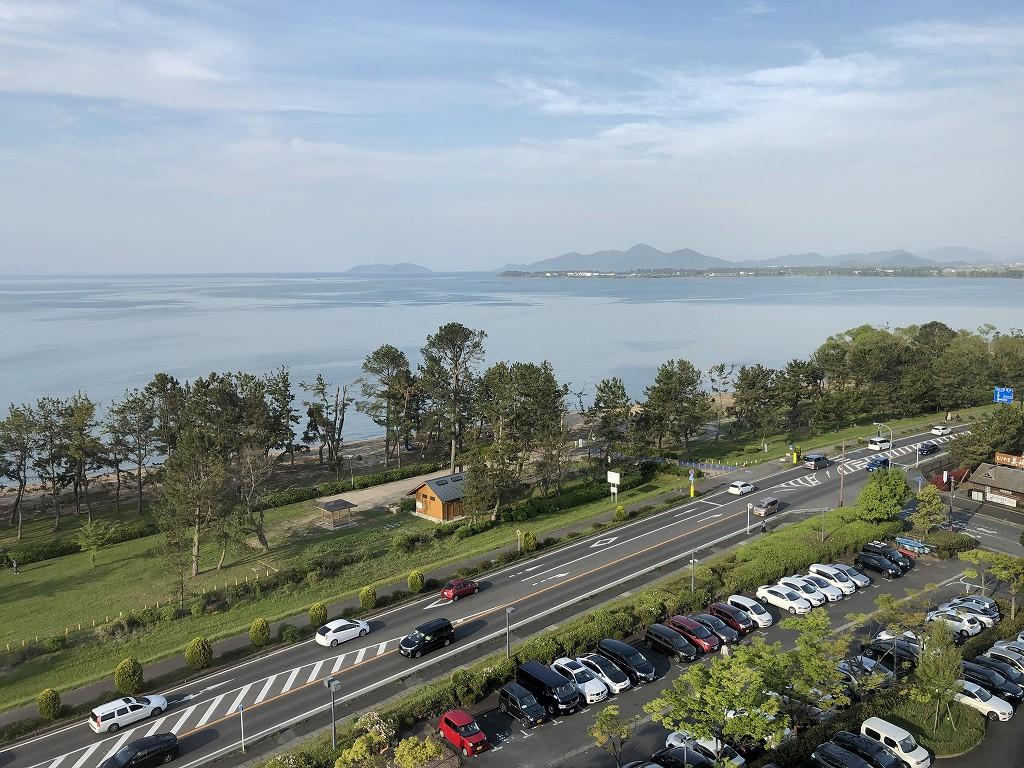 琵琶湖マリオットホテルのデラックスルーム(レイクビュー)9