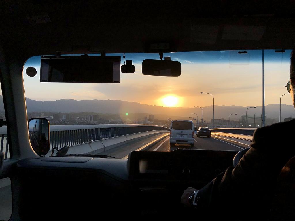 琵琶湖大橋からの夕日