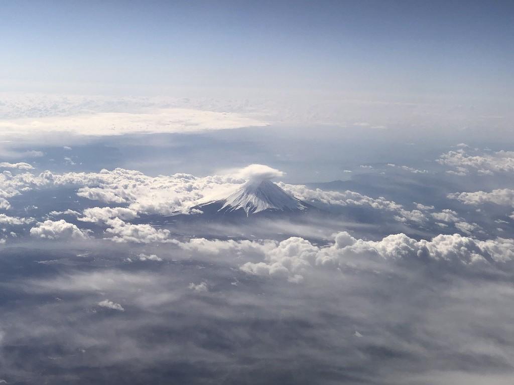 JAL957便から見た富士山