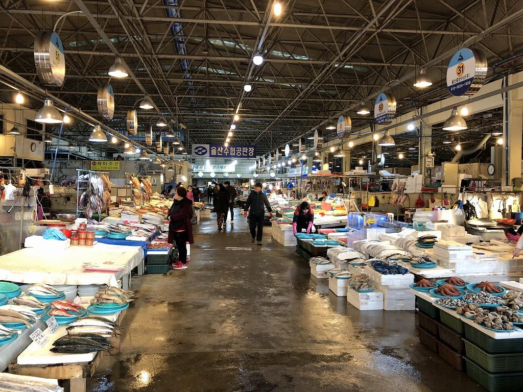 蔚山のマーケット1