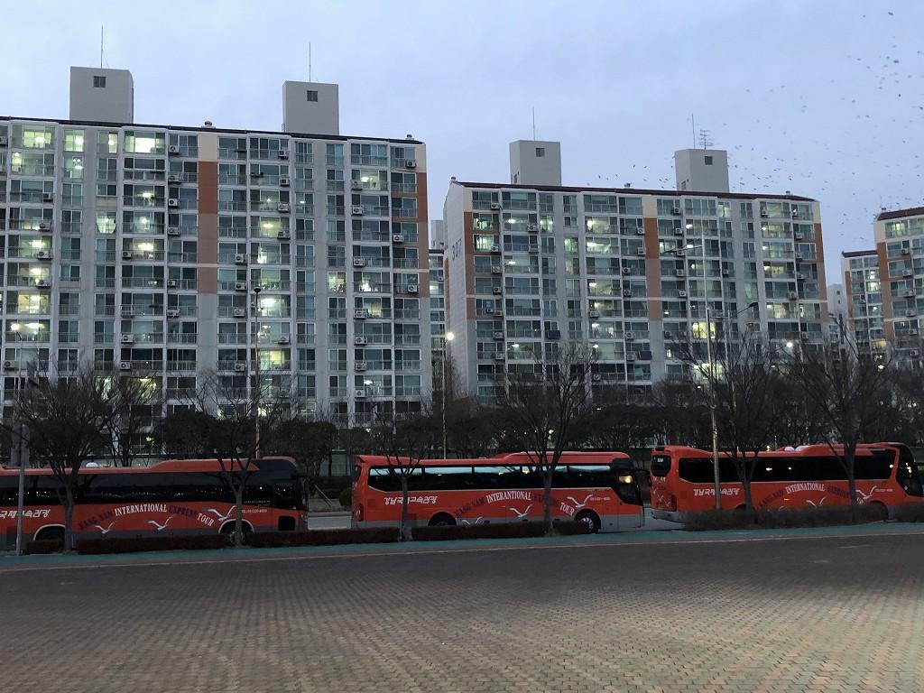 蔚山文殊サッカー競技場のツアーバス