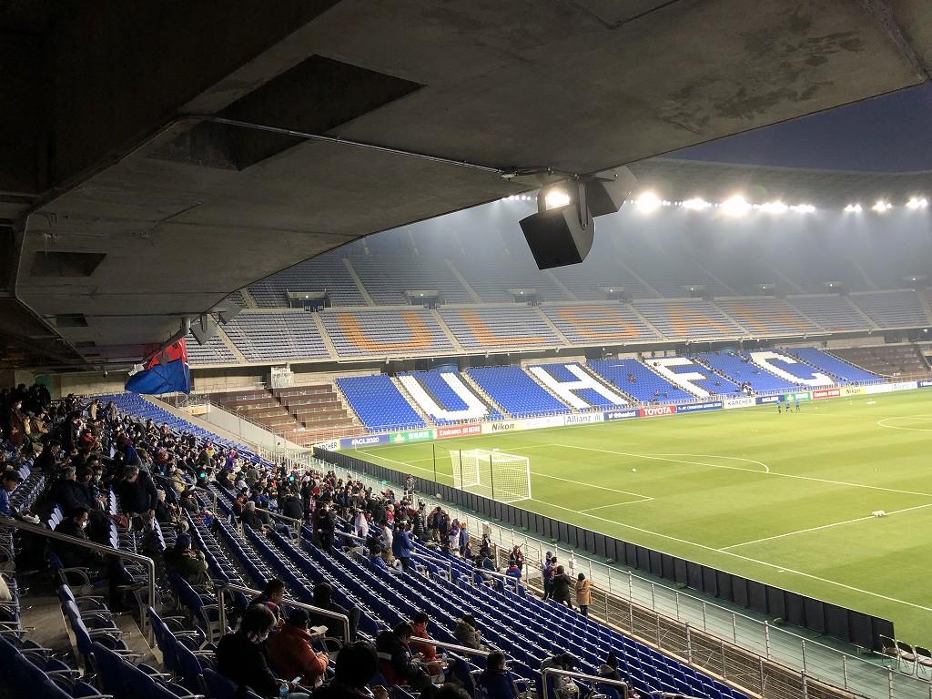 蔚山文殊サッカー競技場のスタンド席から2