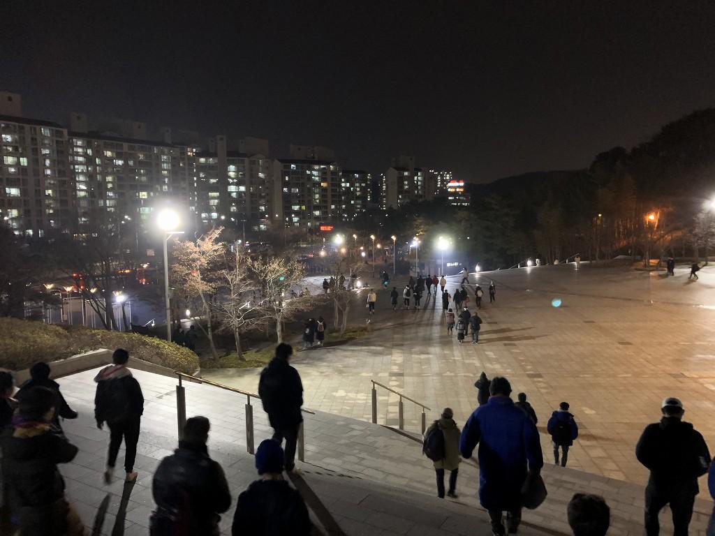 蔚山文殊サッカー競技場からの帰り道1