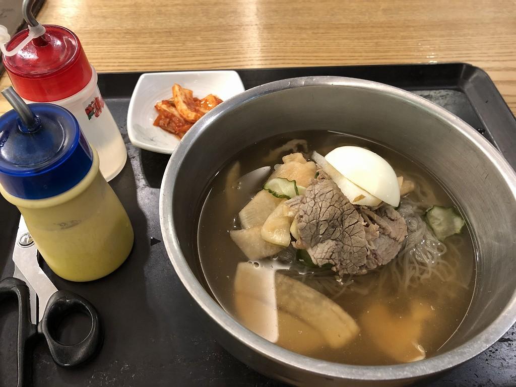 金海空港のプンギョンマルで水冷麺