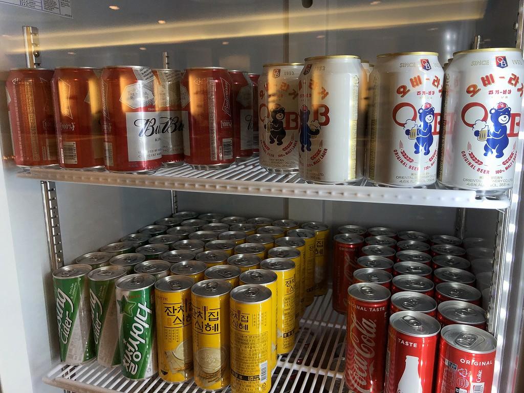 金海空港のKALラウンジのビール