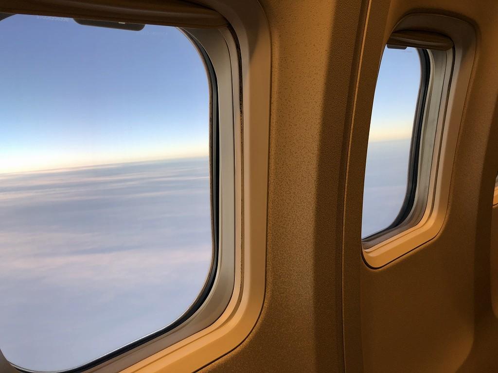 JAL958便のビジネスクラスからの機窓風景2