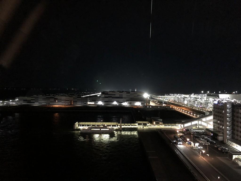 フォーポイントバイシェラトン名古屋中部国際空港のプレミアムキングルームからの眺め