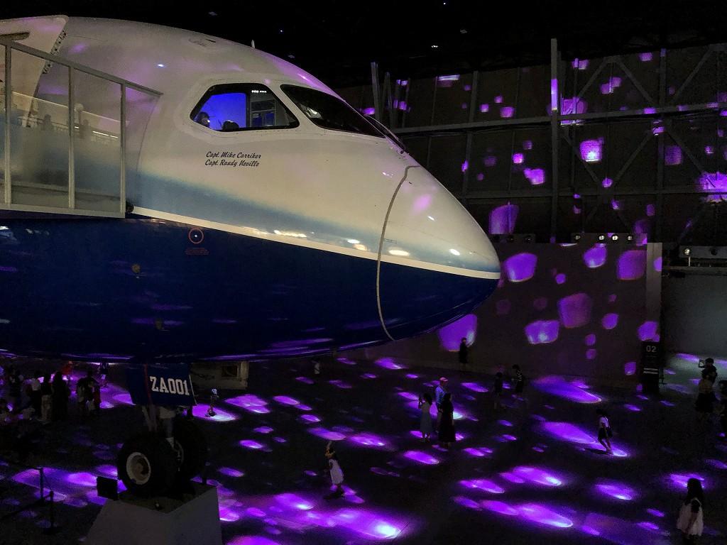 セントレアの「FLIGHT OF DREAMS」のプロジェクションマッピング2