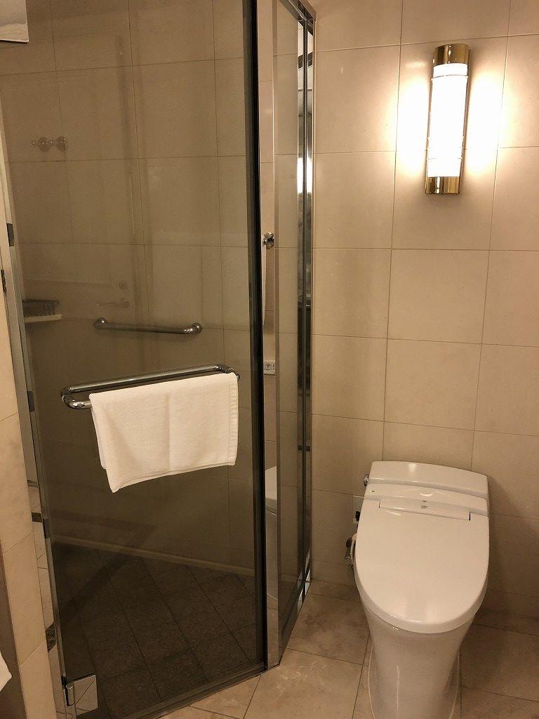名古屋マリオットアソシアホテルのデラックスルームのシャワールーム