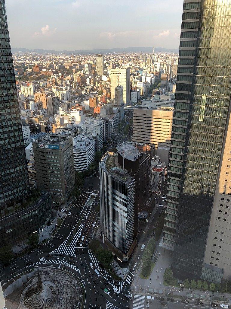 名古屋マリオットアソシアホテルのデラックスルームからの眺め