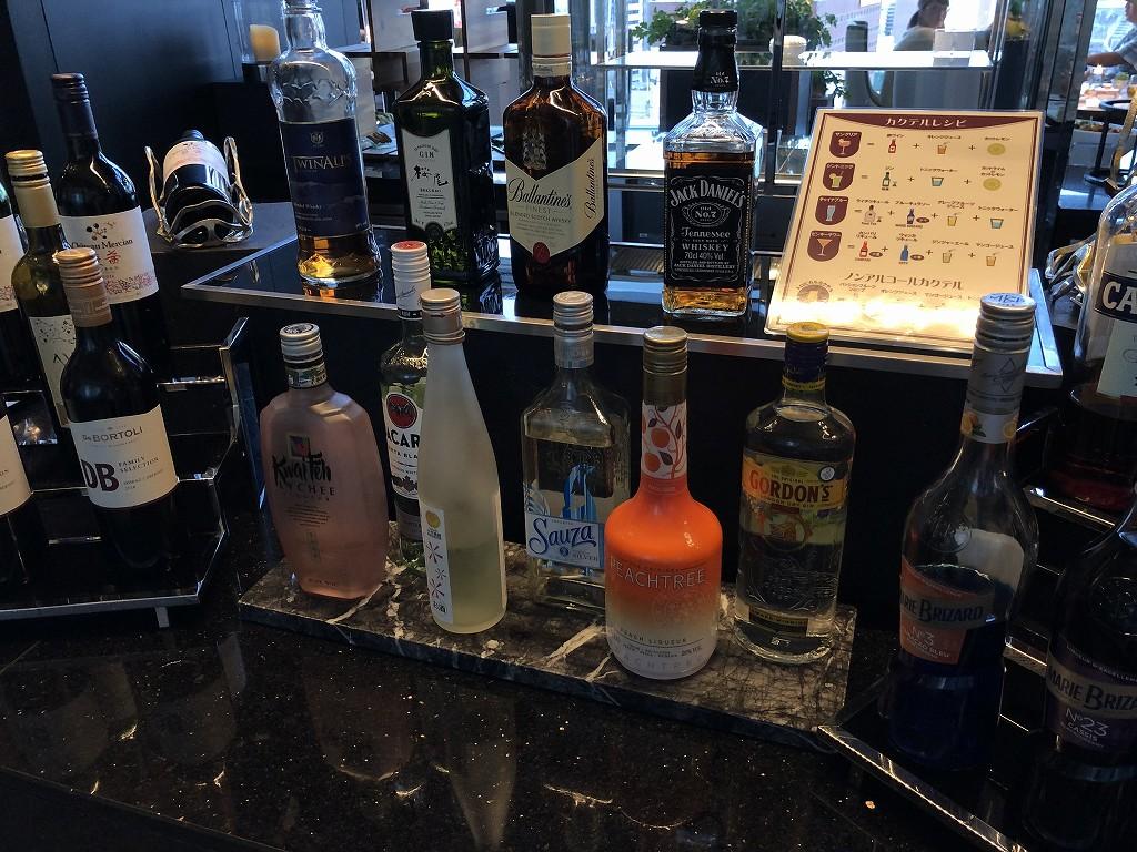 名古屋マリオットアソシアホテルのコンシェルジュラウンジのアルコール類