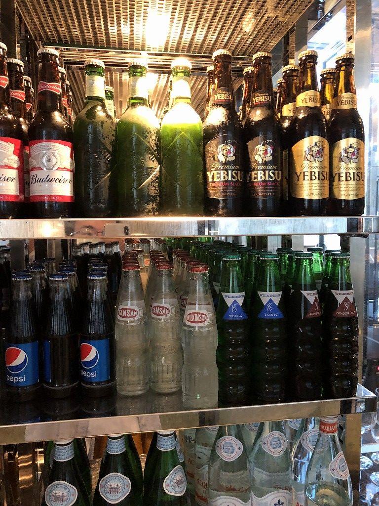 名古屋マリオットアソシアホテルのコンシェルジュラウンジのビール類
