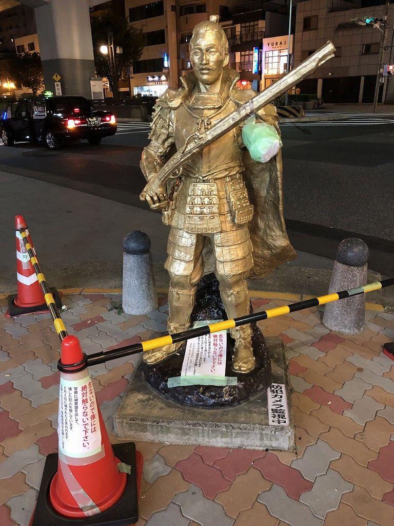 円頓寺商店街の織田信長像