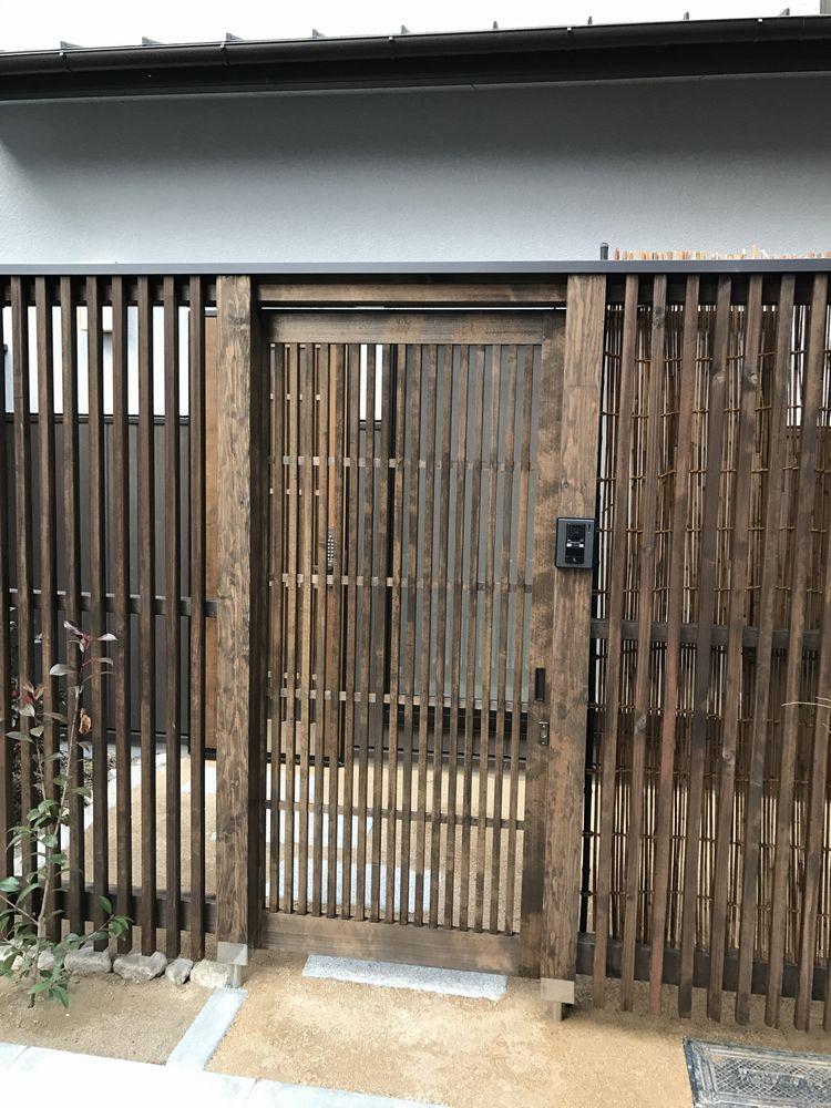 京都のAirbnbの家の外扉