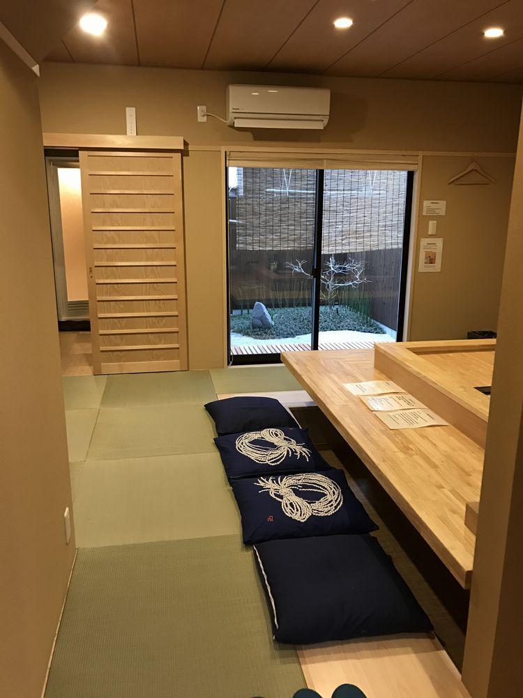 京都のAirbnbの家の1階リビング1