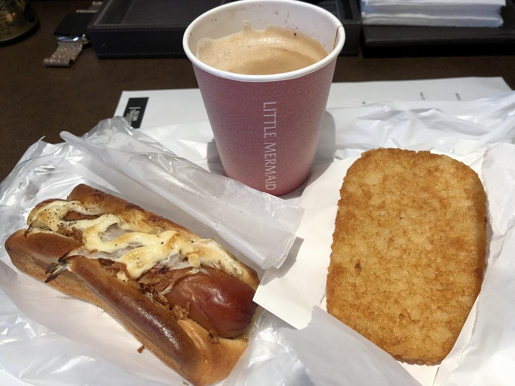 リトルマーメイドでパンで朝食