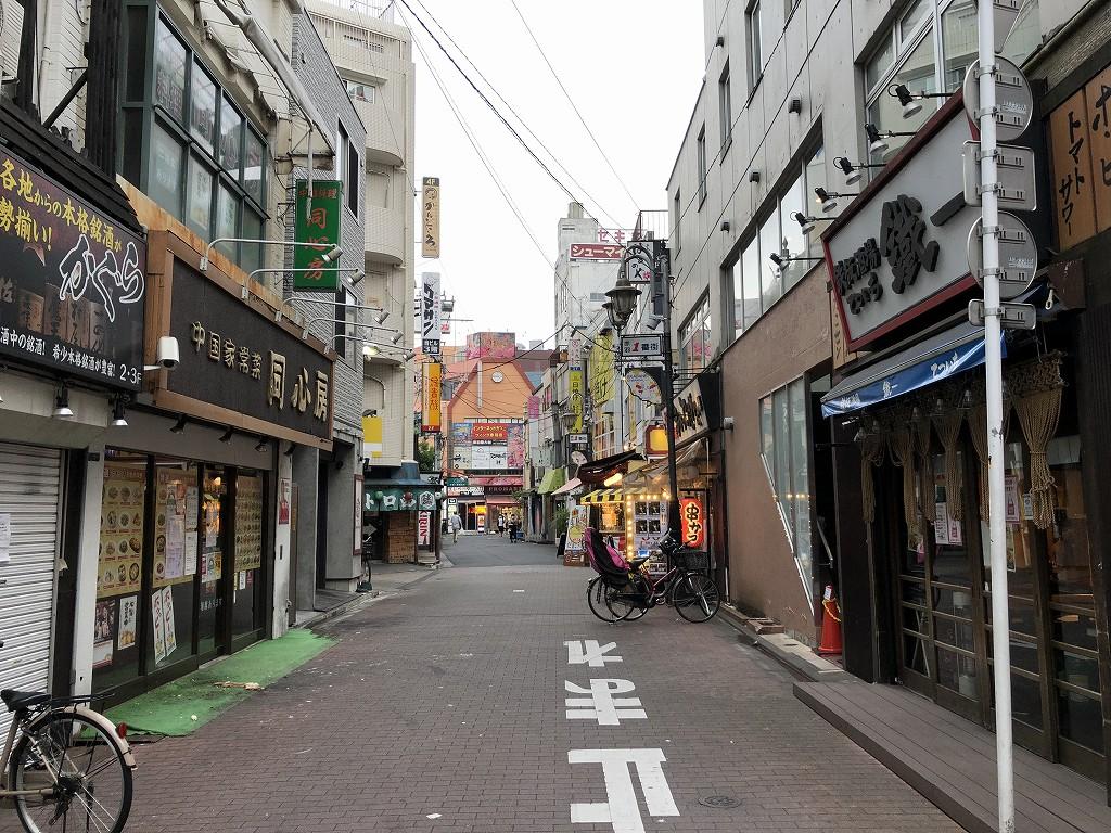 休業中の赤羽一番街商店街