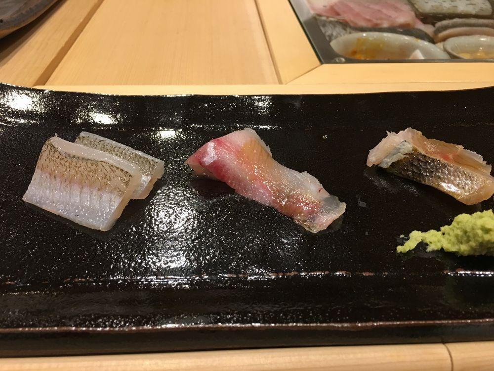 秋田のすし匠のキス、マハタ、タカベ