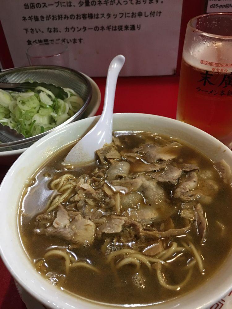 末廣ラーメン本舗 秋田駅前分店のラーメン