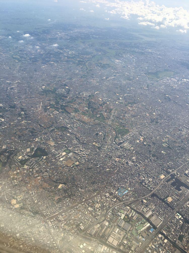 飛行機から見た千葉県船橋市
