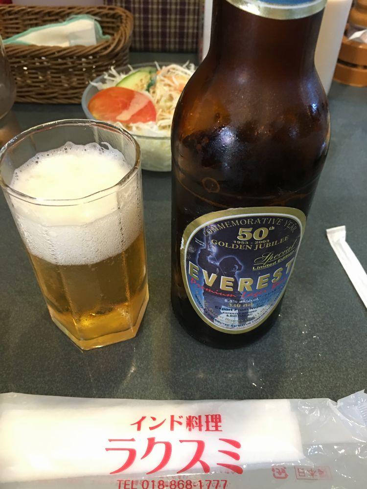 秋田のラクスミのエヴェレストビール