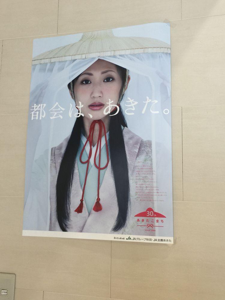 壇蜜のあきたこまちポスター