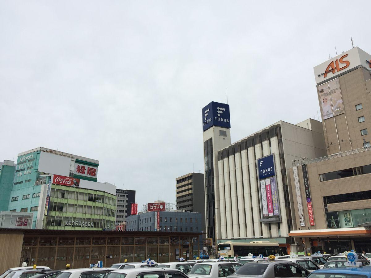 秋田駅前の風景
