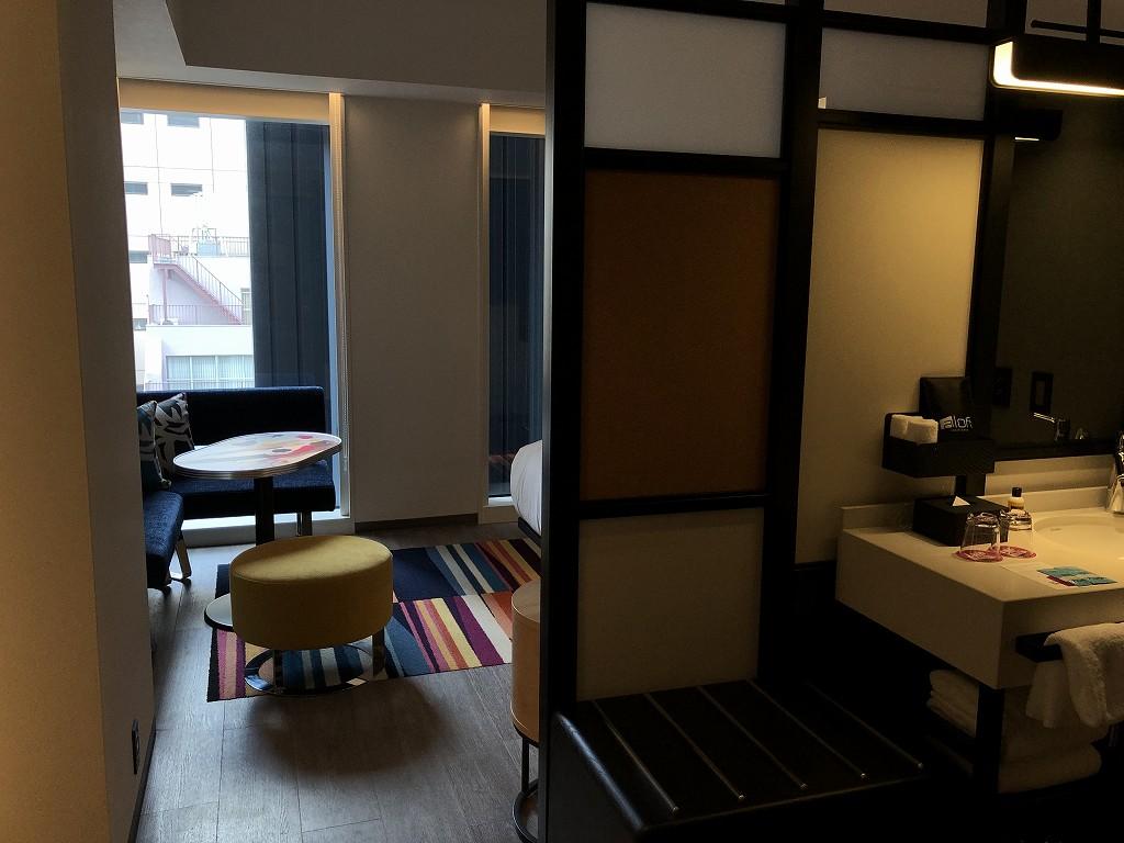 アロフト東京銀座のサヴィーキングルームの窓からの眺め1