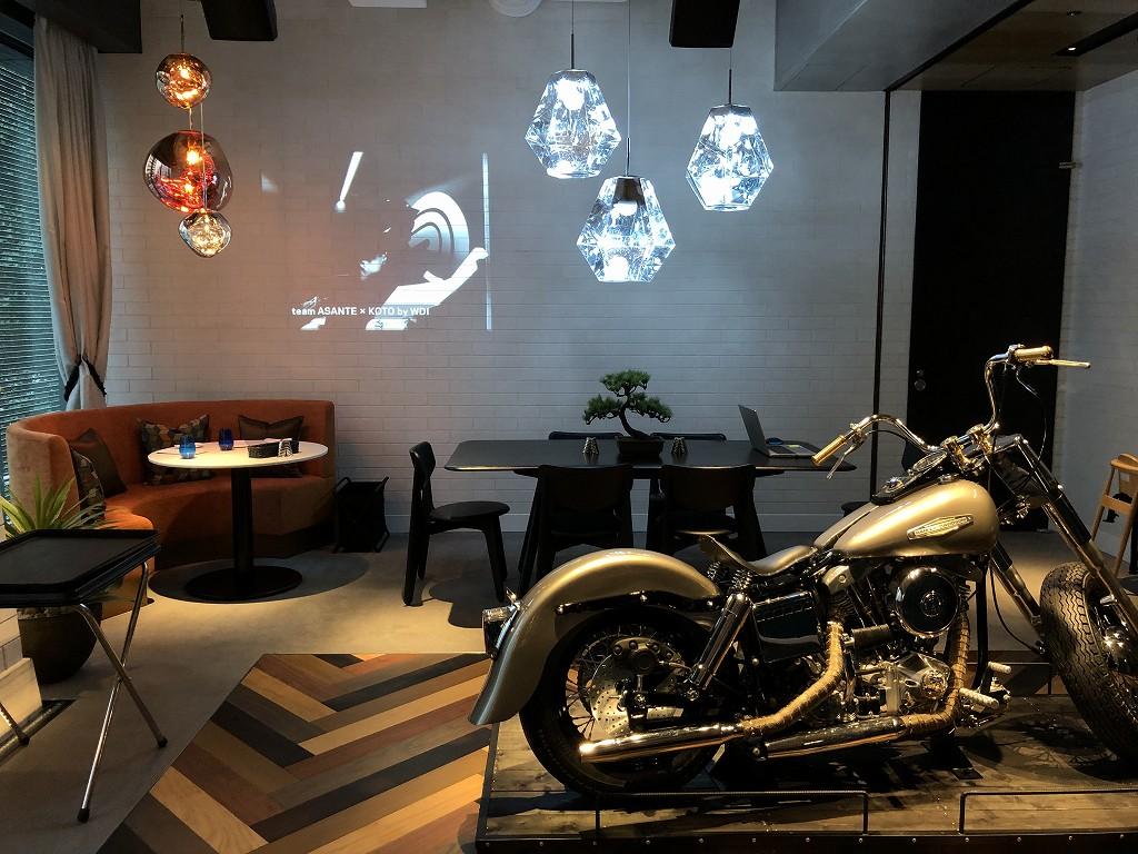 アロフト東京銀座のThe WAREHOUSEのバイク