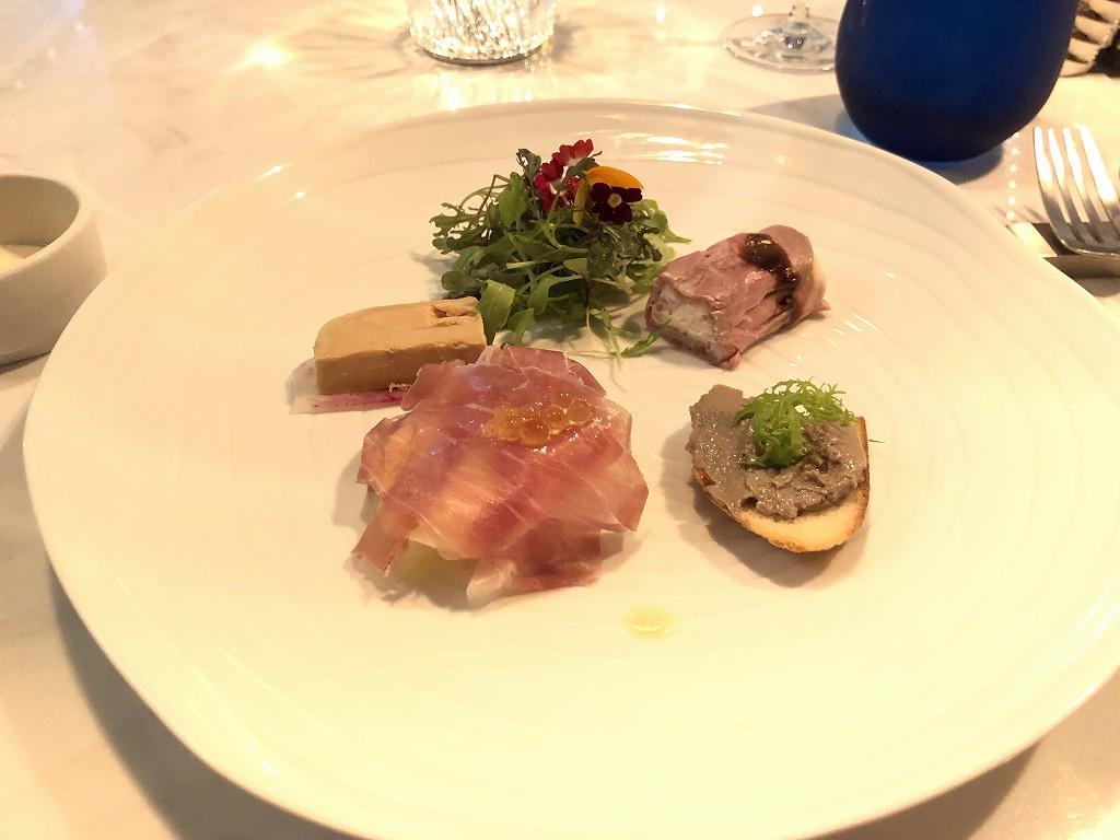 アロフト東京銀座のThe WAREHOUSEの前菜5種