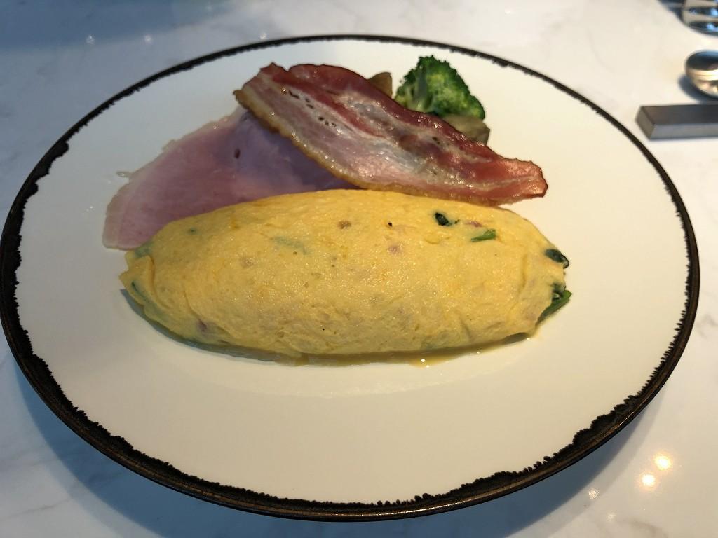 アロフト東京銀座の朝食のオムレツ