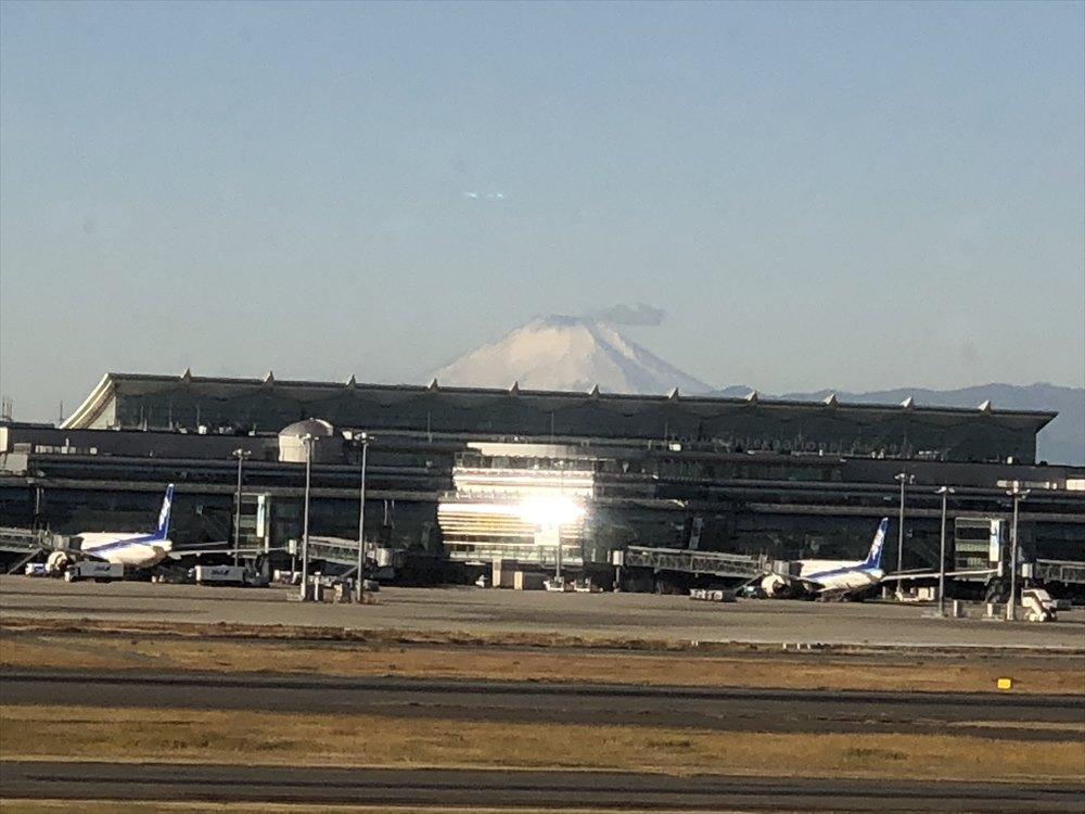 サクララウンジから見えた富士山