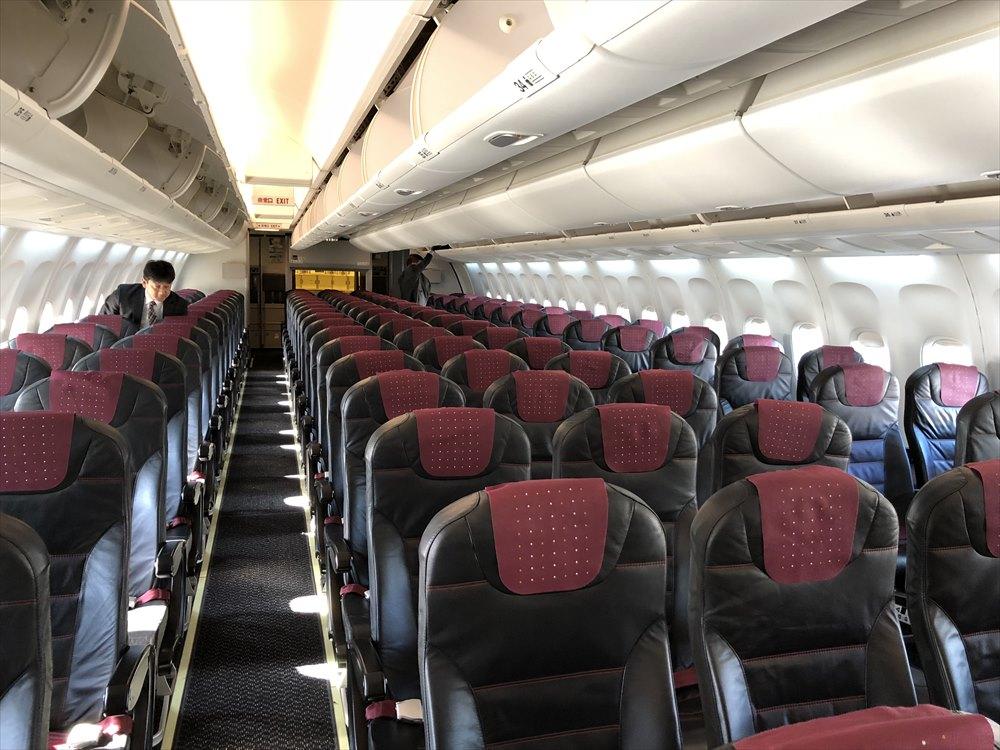 JAL645便の普通席のシート