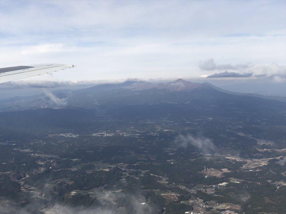 曽於市上空から霧島連山