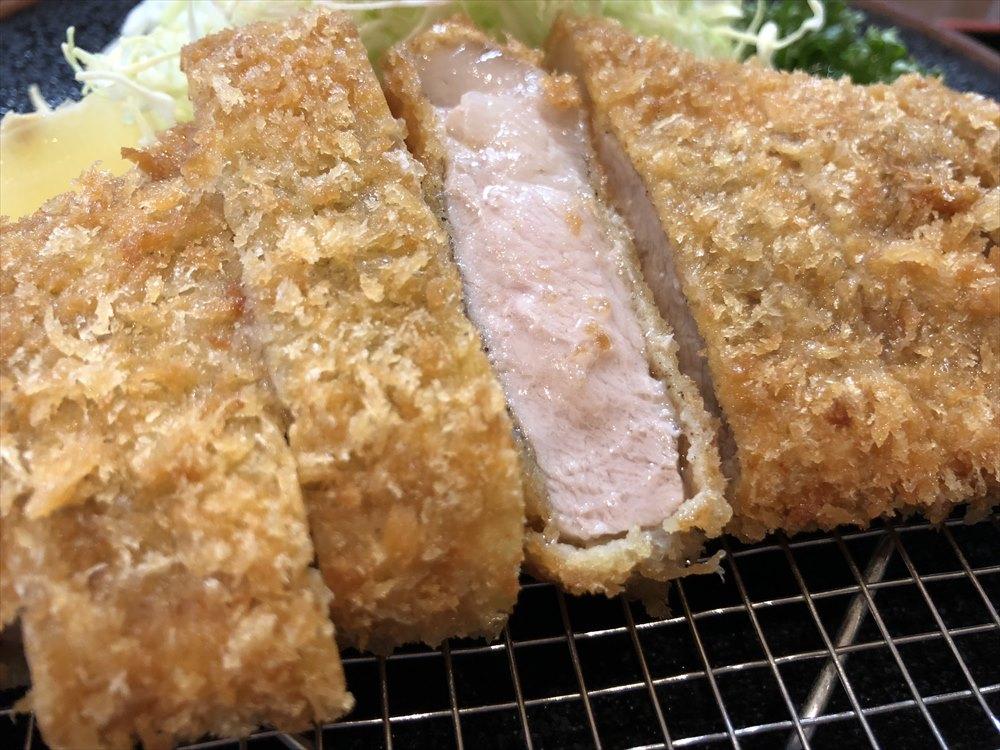 「川久」の黒豚ロース定食2