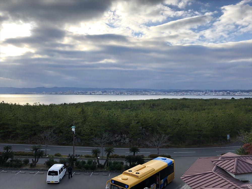 烏島展望台から錦江湾