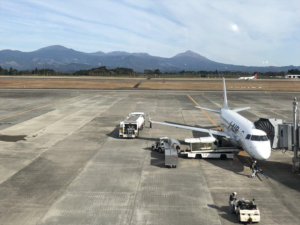 鹿児島空港の展望デッキ2