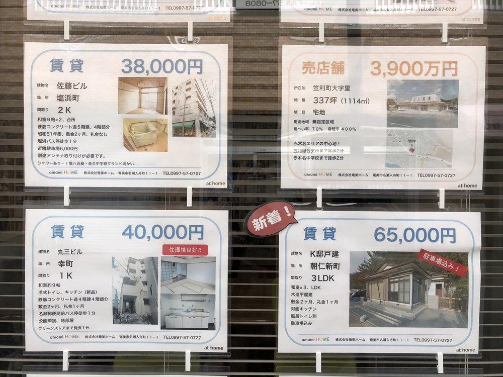 奄美大島の賃貸物件の相場