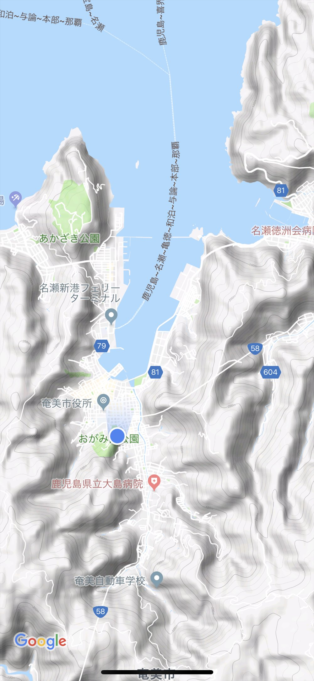 おがみ山公園の位置情報