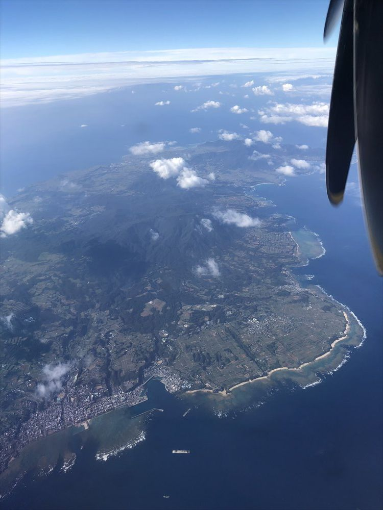 RAC854から見た徳之島