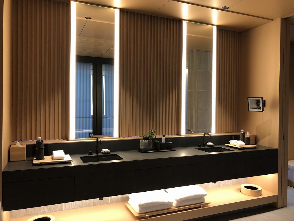 アマン京都の「芒」の洗面所1