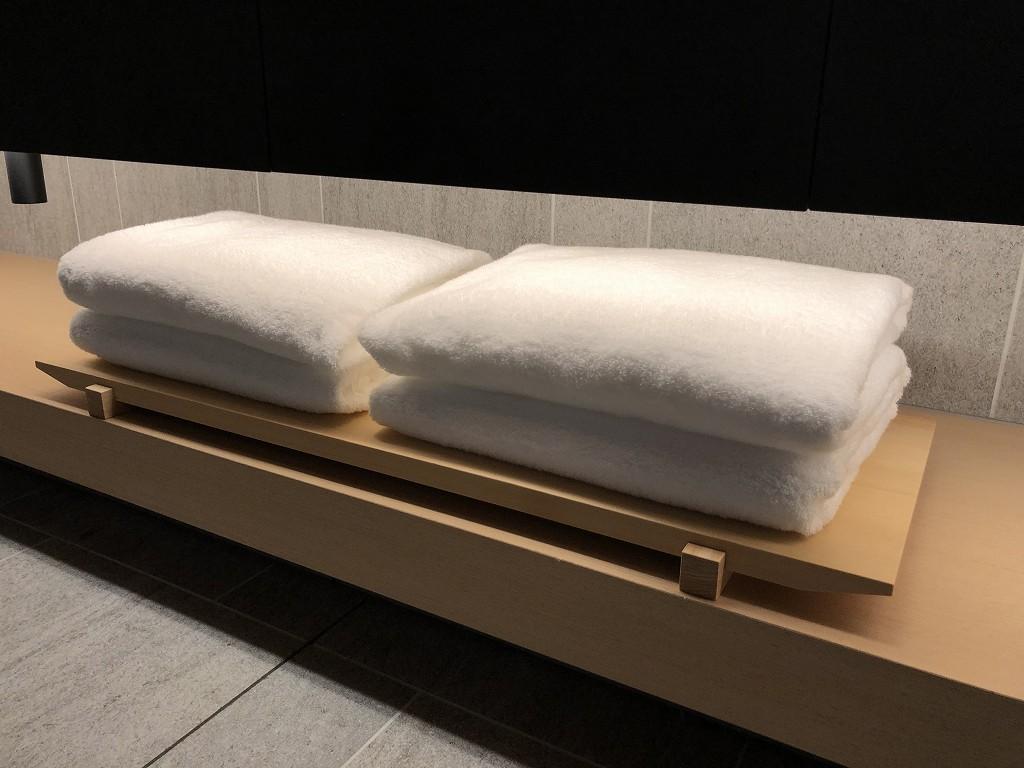 アマン京都の「芒」のふかふかバスタオル